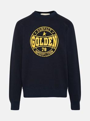 GOLDEN GOOSE DELUXE BRAND - FELPA ARCHIBALD BLU