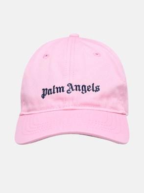 PALM ANGELS - CAPPELLINO CLASSIC LOGO IN COTONE ROSA