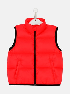 PALM ANGELS - GILET LOGO IN POLIAMMIDE ROSSO