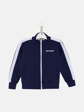 PALM ANGELS - FELPA CLASSIC LOGO IN POLIESTERE NAVY