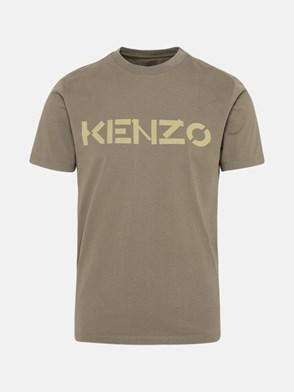 KENZO - T-SHIRT KENZO LOGO IN COTONE BIOLOGICO VERDE