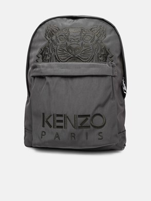 KENZO - GREEN POLYESTER CANVAS KAMPUS TIGER BACKPACK
