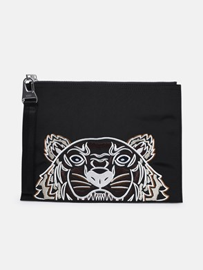 KENZO - BUSTINA CANVAS KAMPUS TIGER IN POLIESTERE NERA