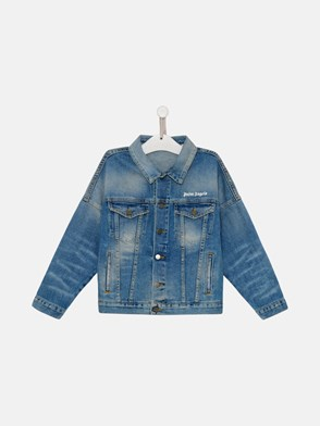 PALM ANGELS - GIACCA IN COTONE BLU