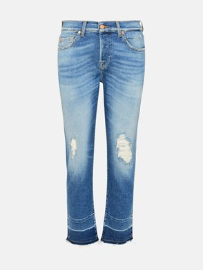 7 FOR ALL MANKIND - JEANS ASHER IN COTONE BLU