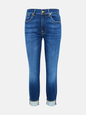 7 FOR ALL MANKIND - JEANS RELAXED SKINNY IN COTONE BLU