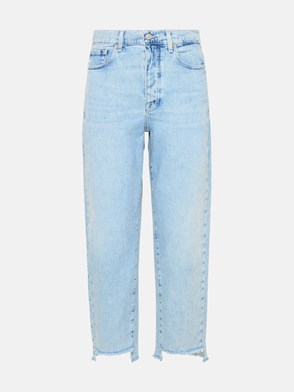 7 FOR ALL MANKIND - JEANS DYLAN IN COTONE AZZURRO