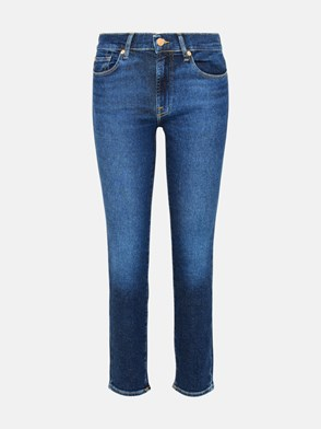 7 FOR ALL MANKIND - JEANS ROXANNE ANKLE IN COTONE BLU
