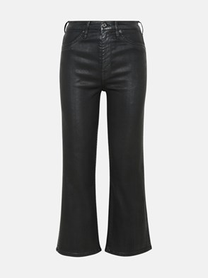 7 FOR ALL MANKIND - JEANS CROPPED ALEXA IN COTONE NERO