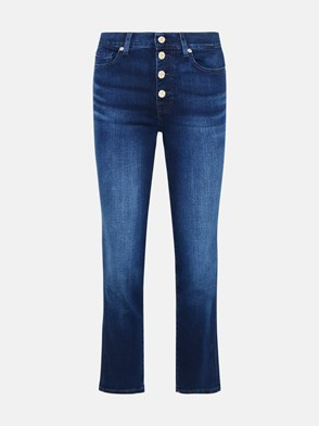 7 FOR ALL MANKIND - JEANS THE STRAIGHT CROP IN COTONE BLU