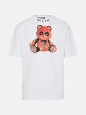 VISION OF SUPER - T-SHIRT PANDY IN COTONE BIANCA