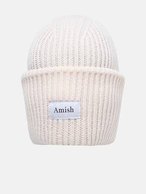 AMISH - BERRETTO IN MISTO ACRILICA PANNA