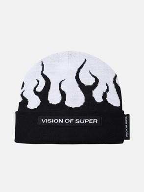 VISION OF SUPER - BERRETTO IN MISTO LANA BICOLORE