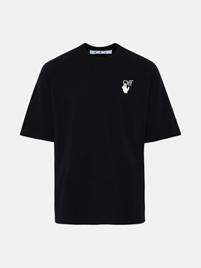 OFF-WHITE - T-SHIRT HAND OW LOGO IN COTONE NERA