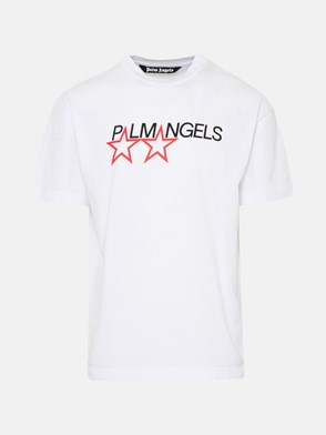PALM ANGELS - T-SHIRT RACING STAR IN COTONE BIANCA