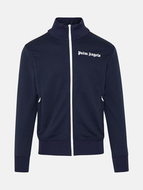 PALM ANGELS - FELPA CLASSIC TRACK IN POLIESTERE NAVY
