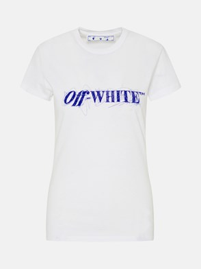 OFF-WHITE - T-SHIRT PEN LOGO IN COTONE BIANCA