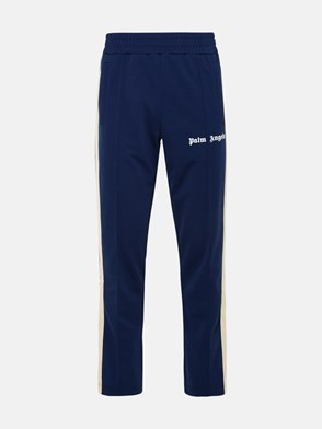 PALM ANGELS - PANTALONE TRACK IN POLIESTERE BLU NAVY