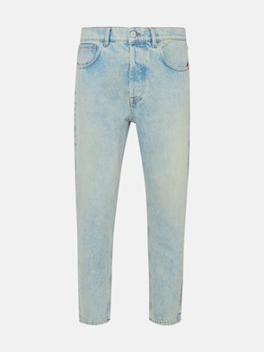 AMISH - JEANS JEREMIAH AMISH DIRTY BLEACHED IN POLIESTERE DENIM