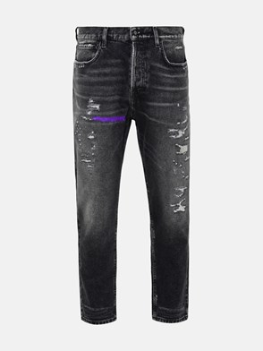 AMISH - JEANS JEREMIAH AMISH IN POLIESTERE DENIM BLACK