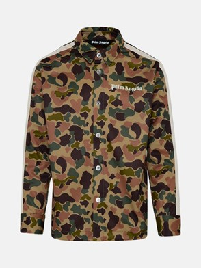 PALM ANGELS - CAMICIA CAMOUFLAGE VERDE
